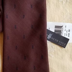 Kenneth Cole Accessories - NWT! Sleek, Kenneth Cole Chocolate tie